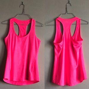 Athleta Hot Pink Ribbed Racerback Tank Top Size XS